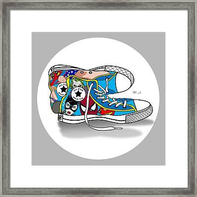 Comics Shoes 2 Framed Print by Mark Ashkenazi