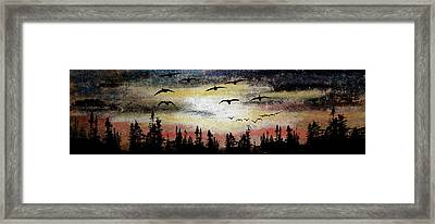 Comin' In Framed Print by R Kyllo