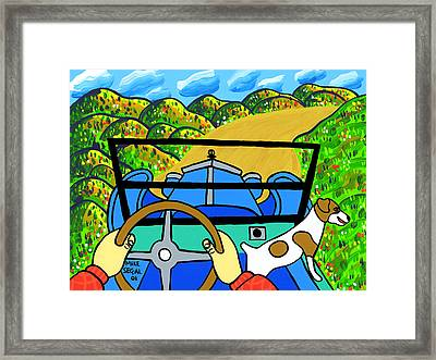 Comin' Round The Mountain Framed Print