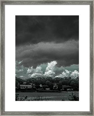 Coming Across The Lake Framed Print by Christy Usilton