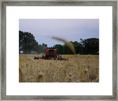 Coming At You Framed Print