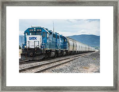 Just Chugging Along... Framed Print