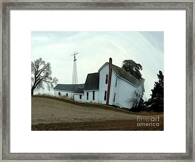 Coming Dust Storm Framed Print by Charlie Spear