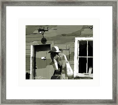 Framed Print featuring the painting Coming Home by Bob Salo