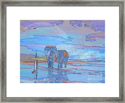 Coming Home From Sea Framed Print by Mojo Mendiola