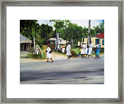 Coming Home From Service Framed Print