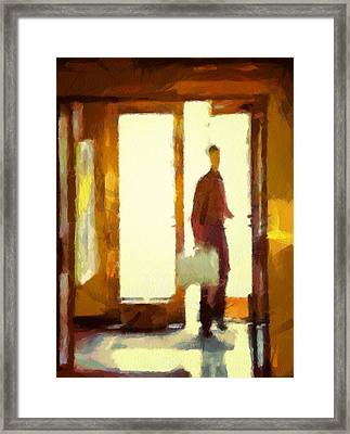 Coming In From The Sunshine Framed Print by Gun Legler