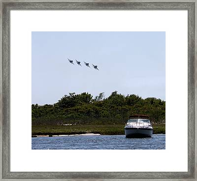 Coming In Low Framed Print by French Toast