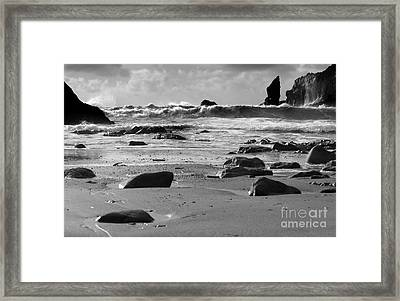 Coming In Waves Framed Print