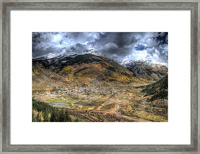 Coming Into Silverton Framed Print
