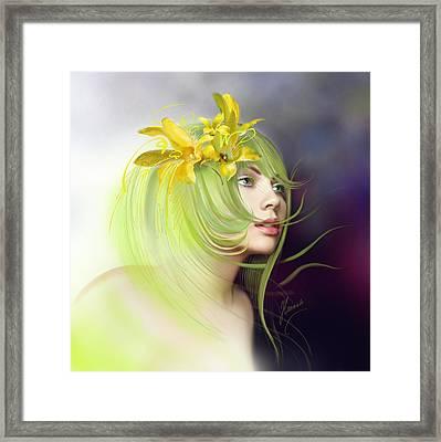 Coming Of Spring Framed Print by Anna Ewa Miarczynska