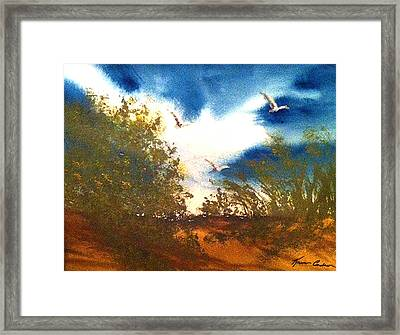 Coming Of Spring Framed Print by Karen  Condron