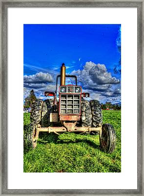 Coming Out Of A Heavy Action Tractor Framed Print by Eti Reid