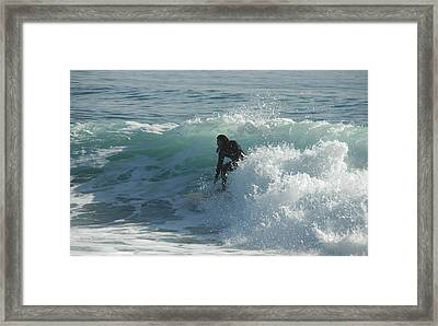 Coming Out Of The Curl Framed Print by Donna Blackhall