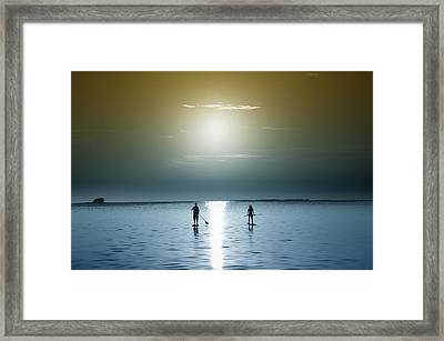 Coming Out Of The Sun Framed Print