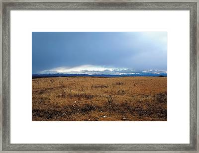 Coming Snow 2 Framed Print by Terry Reynoldson