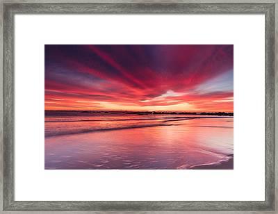 Coming Soon Sunrise At Hampton Beach Framed Print