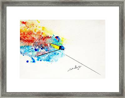 Coming Through Framed Print by Angee Skoubye