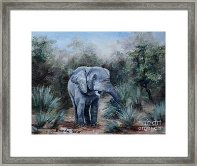 Coming Through Framed Print