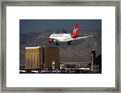 Coming To Las Vegas Framed Print