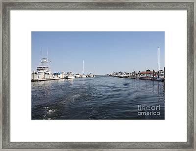 Coming To Port After Fishing Framed Print by John Telfer