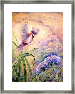 Coming To Rest Framed Print by Hazel Holland