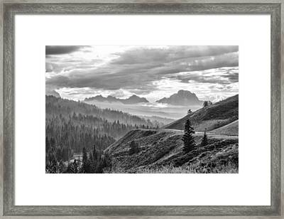 Coming Up A Storm  Framed Print