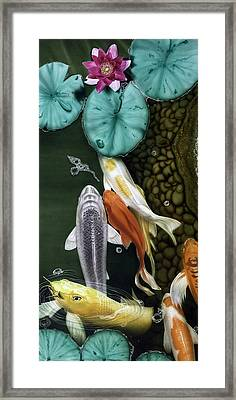Framed Print featuring the painting Coming Up Short by Dan Menta