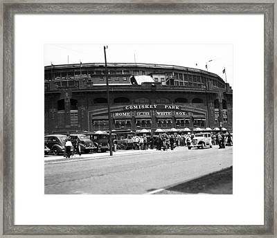 Comiskey Park Looms Framed Print by Retro Images Archive