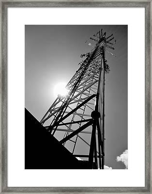Comm Tower Framed Print