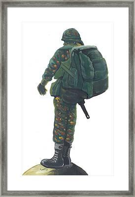 Commando 02 Framed Print