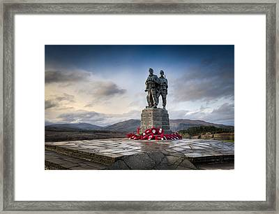 Commando Memorial At Spean Bridge Framed Print