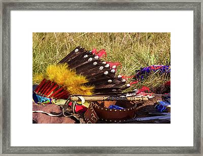 Commemoration Of Battle Site By The Nez Framed Print by Chuck Haney