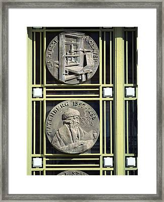 Commemorative Printing Medallions Framed Print by Chris Hellier