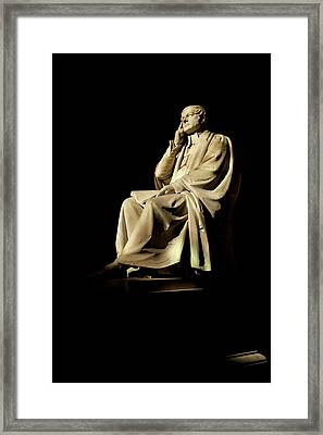 Commemorative Statues Of Benefactors Framed Print by Panoramic Images