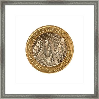 Commemorative Two Pound Coin Framed Print by Public Health England