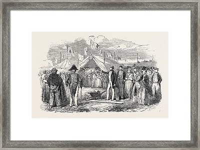 Commencement Of The Works Of The Netherlands Land Framed Print by Dutch School