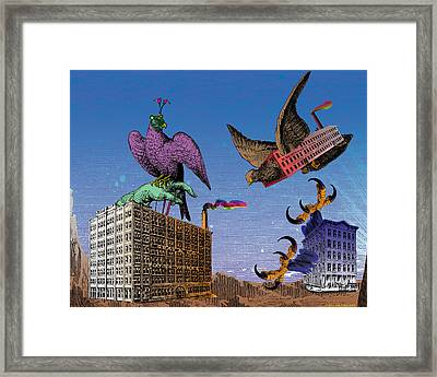 Commerce Of The Birds Framed Print by Eric Edelman