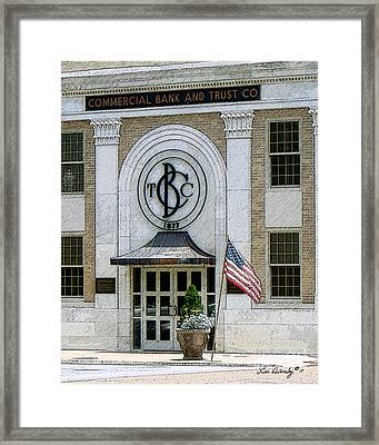 Commercial Bank And Trust Framed Print