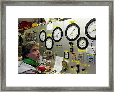 Commercial Diving Control Room Framed Print