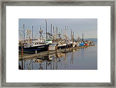 Commercial Fishing Boats Dock Framed Print