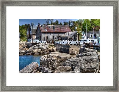 Commercial Fishing Dock Framed Print