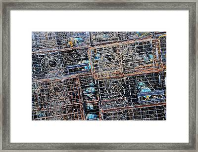 Commercial Fishing Pots Framed Print by Heidi Smith