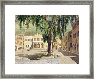 Commercial Square, The Commercial Framed Print by Thomas Colman Dibdin