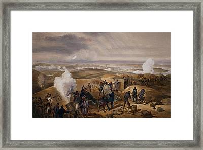 Commissariat Difficulties, Plate Framed Print