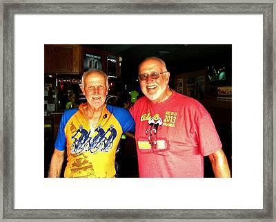 Commission Free - Ragbrai Brothers Framed Print by Benjamin Yeager