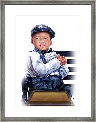 Commissioned - Handsome Baby Boy 1a Framed Print by Reggie Duffie