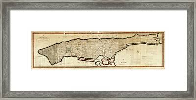 Commissioners' Plan Of Manhattan Framed Print by Library Of Congress, Geography And Map Division