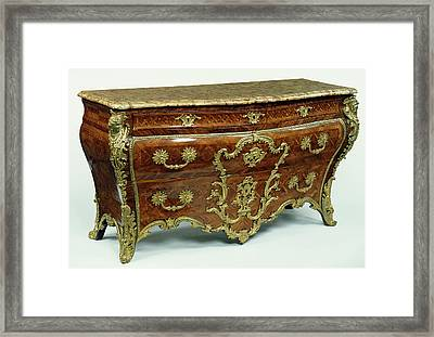 Commode Etienne Doirat, French, About 1675 - 1732 Paris Framed Print by Litz Collection