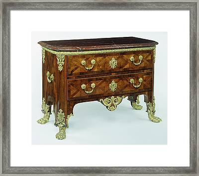 Commode Unknown Paris, France Framed Print by Litz Collection